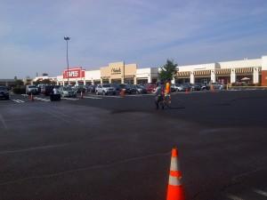 Shopping Center Retail Parking Lot Seal Coating