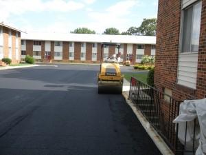 Apartment Parking Lot Asphalt Paving